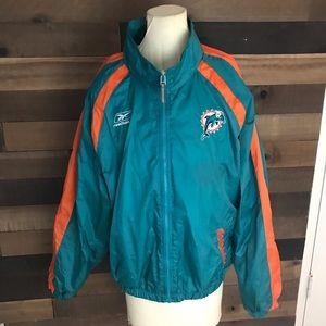 Vintage Miami Dolphins Reebok windbreaker jacket